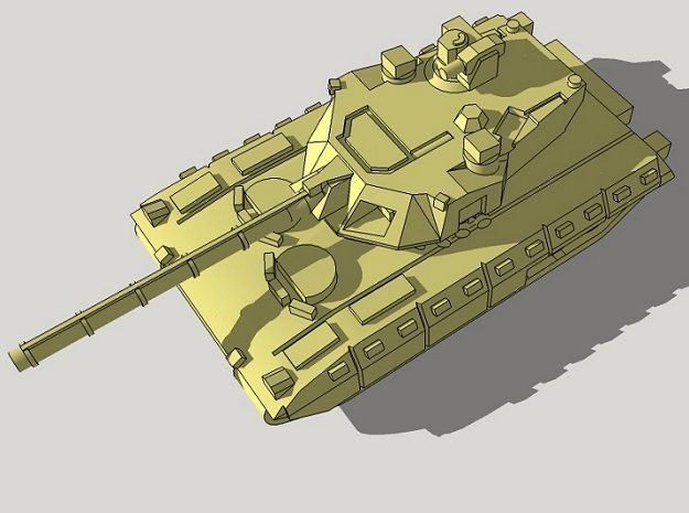 6mm T-14 Armata MBT (4pcs) in White Acrylic