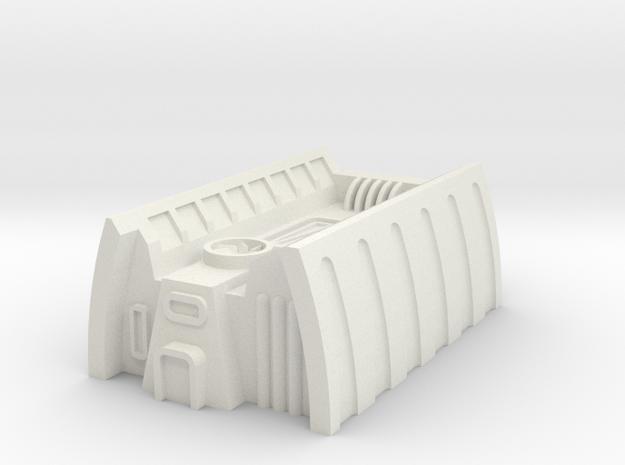 Sci-Fi Building in White Natural Versatile Plastic