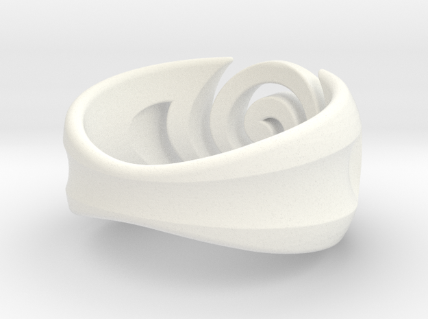 Spiral ring - Size 5 in White Processed Versatile Plastic