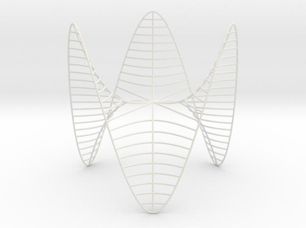 Monkey Saddle -- Level Curves in White Strong & Flexible