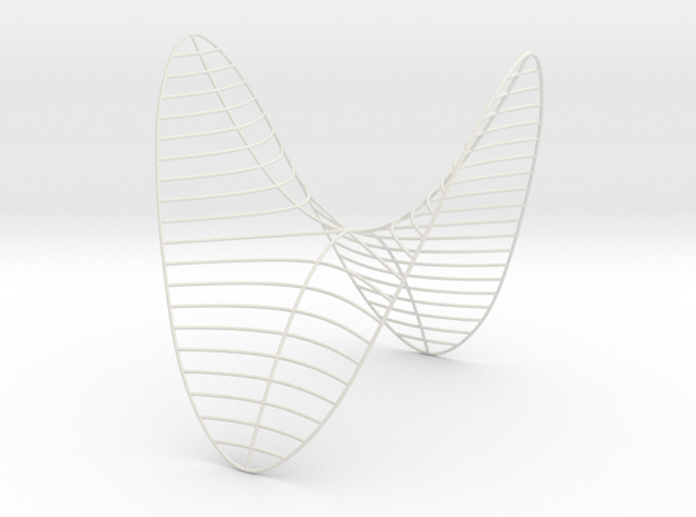 Saddle -- Level Curves (8 in) in White Natural Versatile Plastic