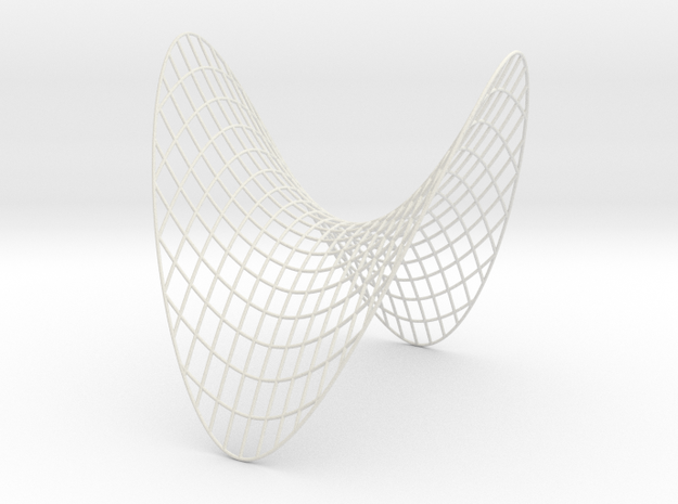 Saddle -- XY curves (8 in) in White Strong & Flexible
