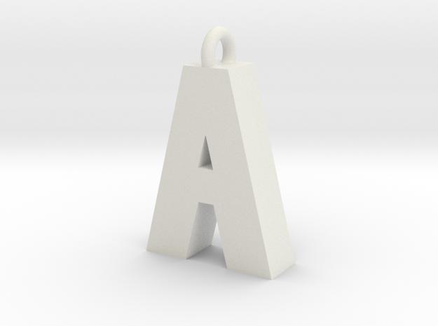 Alphabet (A) in White Strong & Flexible