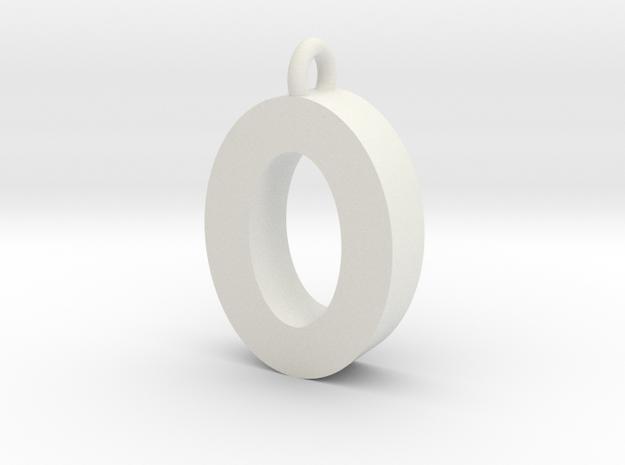 Alphabet (O) in White Strong & Flexible