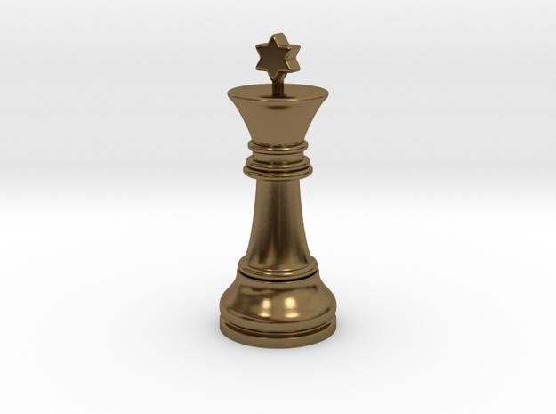 Single Chess King Star Big | Timur Prince Vizir in Polished Bronze