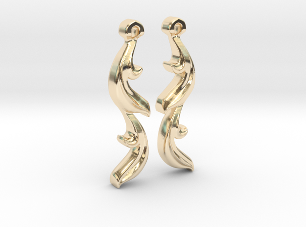 Leaf Earring in 14k Gold Plated