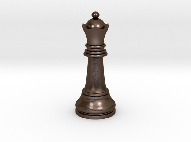 Single Chess Queen Big Standard | Timur Vizir in Polished Bronze Steel