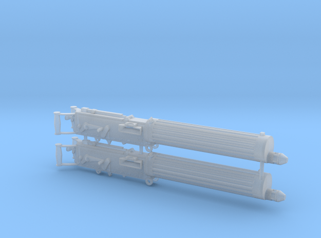 Two 1/16 scale Vickers Heavy Machine Guns. in Smooth Fine Detail Plastic