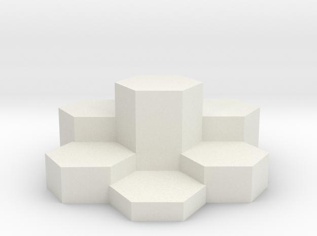 Desk Orniment in White Natural Versatile Plastic