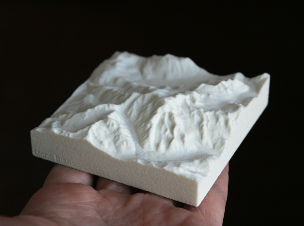 3''/7.5cm Mt. Blanc, France/Italy, Sandstone in Natural Sandstone
