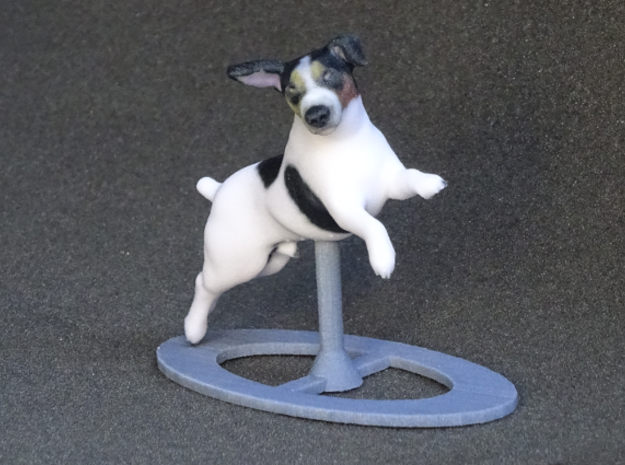 Jumping Up Jack Russell Terrier 2 in Full Color Sandstone