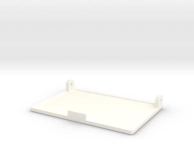 Pillbox Flap Scaled 80% in White Processed Versatile Plastic