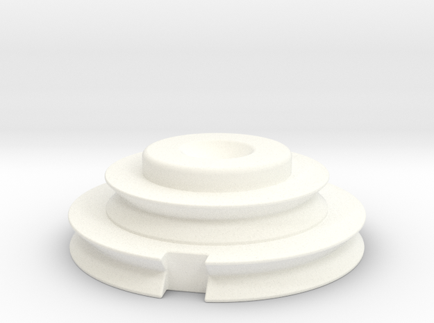 Officer Disk Scaled 80% in White Processed Versatile Plastic