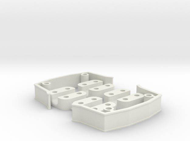 ZMR250 Spacers Kit V3.1 in White Natural Versatile Plastic