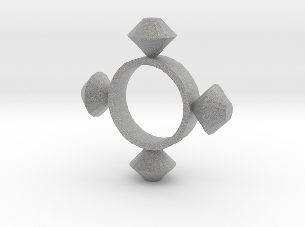 Four Point Diamond in Metallic Plastic