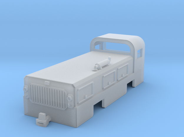Low profile tunnelling and mining diesel locomotiv