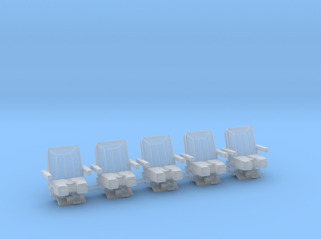 Seats for jet 1:72 5x 3d printed
