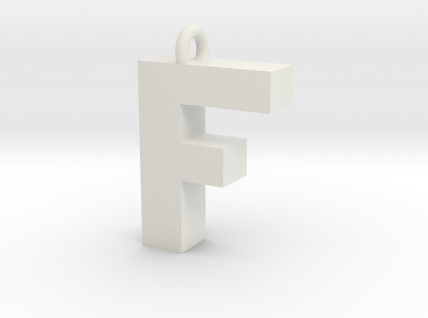 Alphabet (F) in White Strong & Flexible