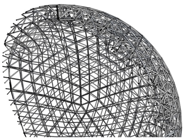 Space Frame Geodesic Sphere in White Natural Versatile Plastic