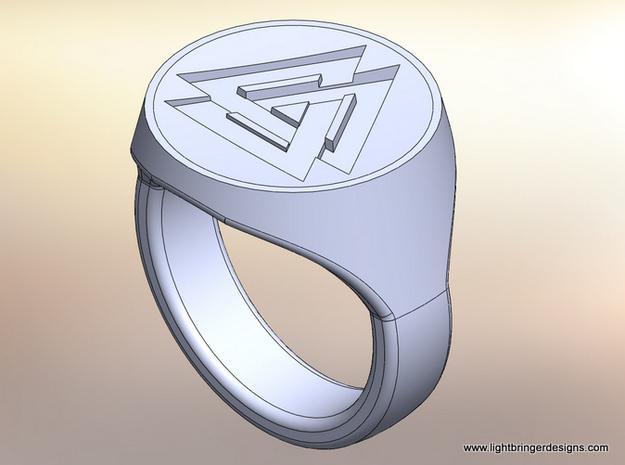 Valknut Signet Ring 3d printed