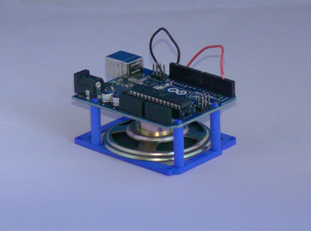 High desktop stand for Arduino Uno / Leonardo  in Blue Processed Versatile Plastic