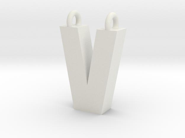 Alphabet (V) in White Strong & Flexible