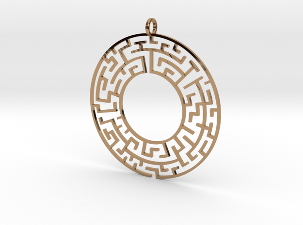 Maze in Polished Brass