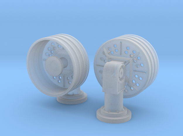 1:96 scale SatCom Communication Antenna in Frosted Ultra Detail