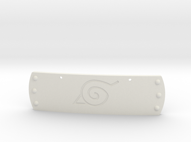 Hidden Leaf Plate - Naruto - Necklace in White Natural Versatile Plastic