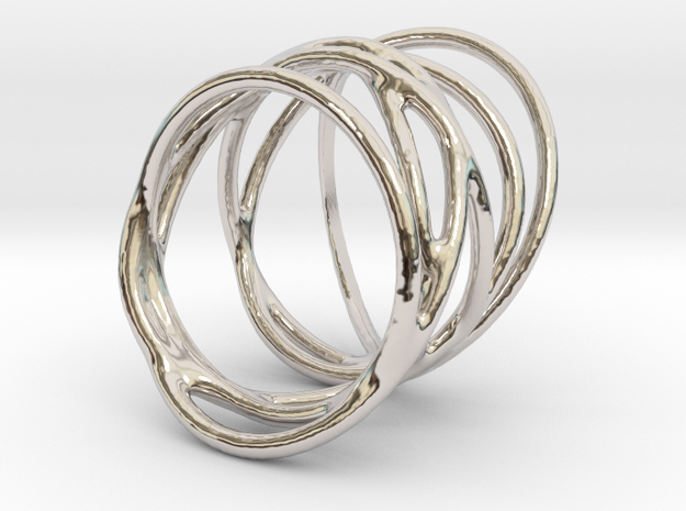 Ring of Rings No.3 in Rhodium Plated Brass