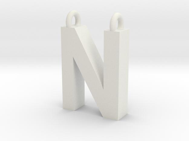 Alphabet (N) in White Strong & Flexible