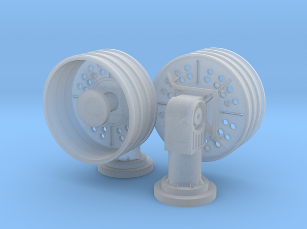 1:72 SatCom communication set in Smooth Fine Detail Plastic