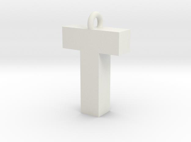 Alphabet (T) in White Strong & Flexible