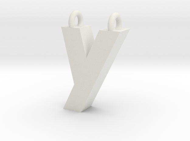 Alphabet (Y) in White Strong & Flexible