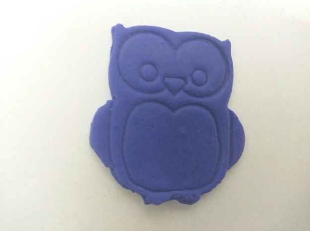 Simple Owl Cookie-Cutter  in White Strong & Flexible