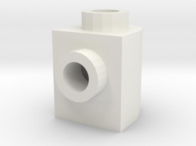 87087Round in White Natural Versatile Plastic