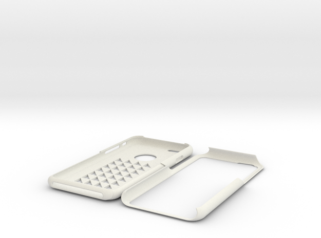 Iphone 6 Triangle Squares in White Strong & Flexible