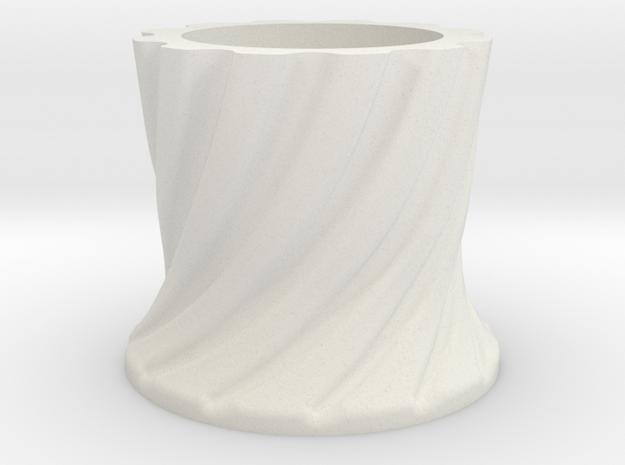 RadarTower - Plinth2 in White Natural Versatile Plastic
