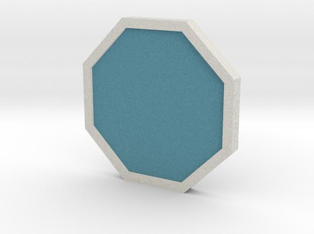 Mineral Badge - Johto Pokemon Bagdes in Full Color Sandstone