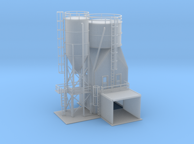 Gravel Plant Building 1 Z Scale in Smooth Fine Detail Plastic