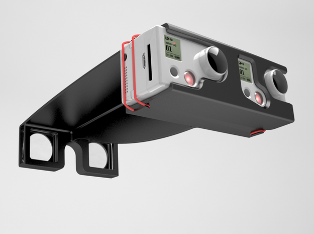 GoPro Stereoscopic attachment 3d printed