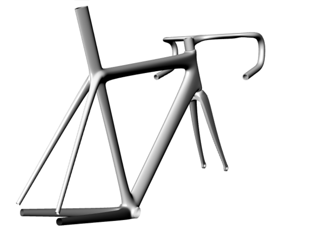 Road Bicycle Fork 3d printed