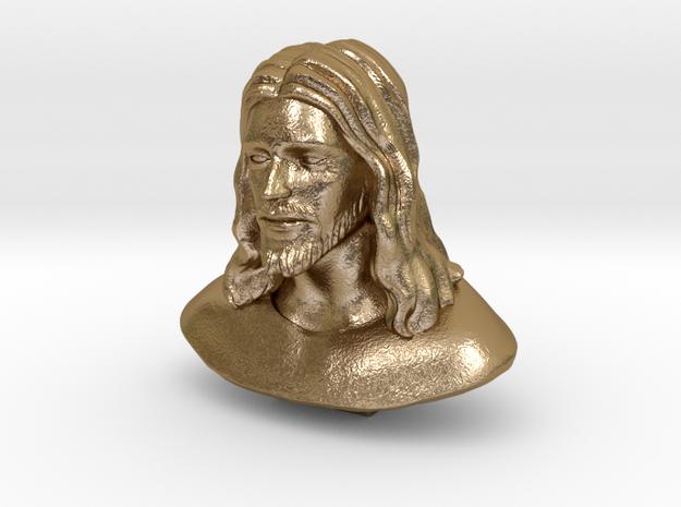 Jesus Christ (Matte - Polished Gold Steel) in Polished Gold Steel