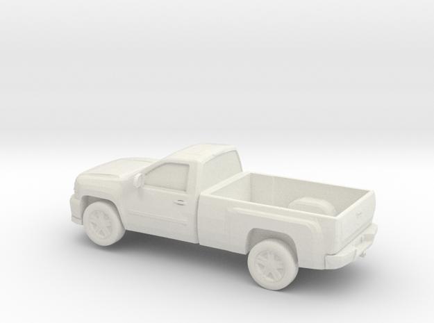 1/87 2013 Chevy Sillverado Single Cab Long Bed in White Natural Versatile Plastic