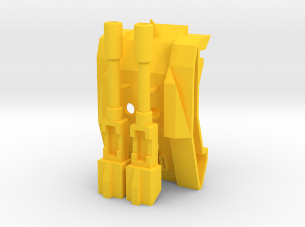 TriGlav - Add on kit for Customatron Landformer in Yellow Processed Versatile Plastic