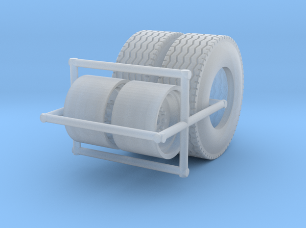 1/64  Floater Wheels and Tires (1 Set) in Smooth Fine Detail Plastic