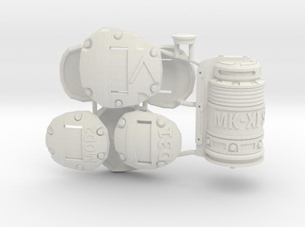 1:6 Sci-Fi ARMOR Plates SF version in White Natural Versatile Plastic