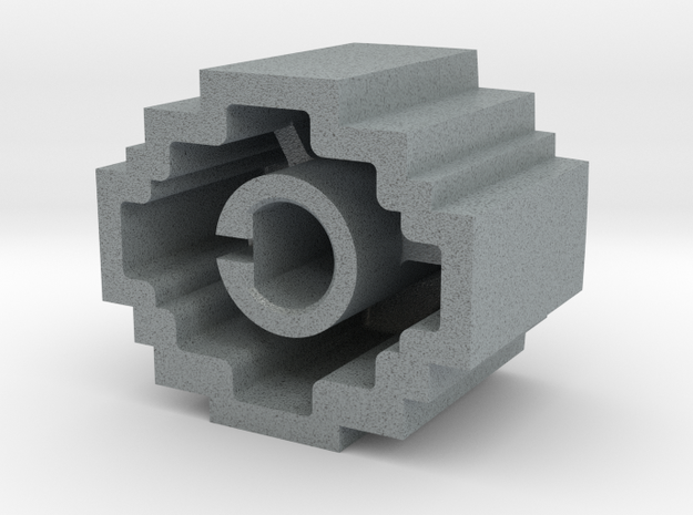 Kong Knob - 1/4' push-on type in Polished Metallic Plastic