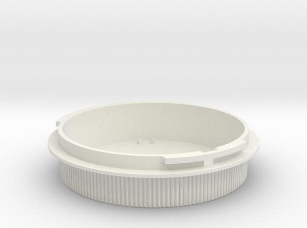 Rear lens cap for Icarex BM lenses in White Strong & Flexible