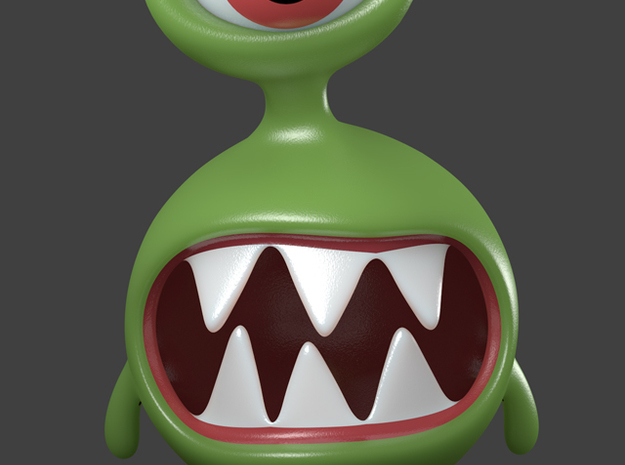 Alien monster toy character in Full Color Sandstone